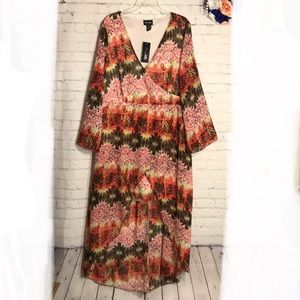 NWT Norma Allen Collection surplice high-low dress